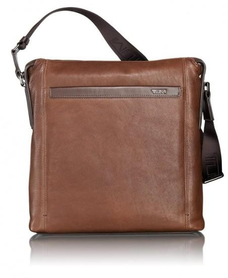 好价!TUMI Leather Crossbody 途米男款真皮斜挎包
