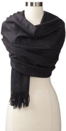海淘Amicale Solid cashmere羊绒披肩围巾