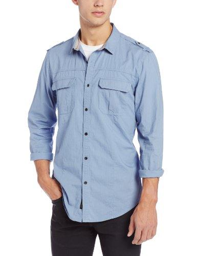 Calvin Klein Jeans 男款带肩章长袖衬衫