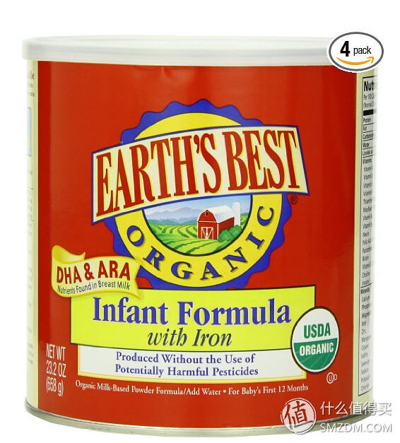 EARTH'S BEST Organic Infant Formula with Iron 有机含铁奶粉