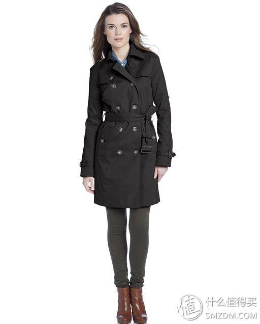 LondonFog 伦敦雾 Quilted 女士时尚披肩风衣